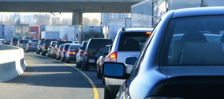 Toronto Gridlock during Rush Hour.