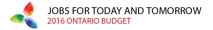 Ontario 2016 Budget